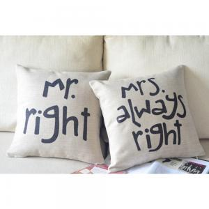 Mr Right Mrs Always Print Decorativ..