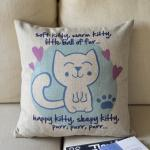 Cute Kitty Print Decorativ..
